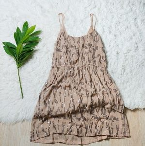 UO| Staring at Stars Sequin Cami Dusty Pink Dress